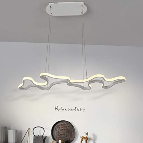 -Household Chandelier, Nordic Lamps, Simple Style, Cafe Bar, LED, Postmodern Creative Personality, Restaurant Chandelier Pendant Light (Color : A)