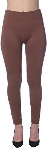 Active Club Women's Fleece Lined Leggings - Seamless High Waisted soft Brushed,2X/3X,Black/Navy/Dk Grey/Olive/Rose/Brown by Active Club (Image #3)