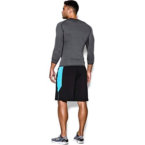 Heather Armour T Heat shirt Gris Homme Manches Gear Under Carbon Longues vwTdqOT