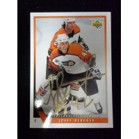 Powers Collectibles Signed Beranek, Josef (Edmonton Oilers) 1993 Upper Deck Hockey Card autographed