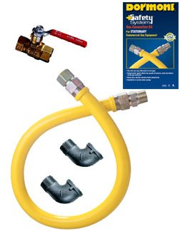 (Dormont Manufacturing Safety System Stationary Gas Connector Kit, 3/4')