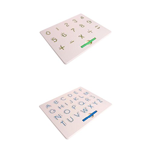 MagiDeal 2pcs Magnetic Math Arithmetic Board Magnet Tablet Alphabet A to Z Educational Doodle Sketch Writing Pad Toddler Baby Developmental Toy Erasable