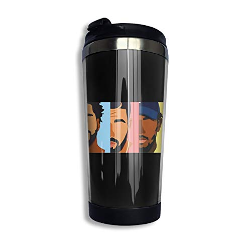 KGOISG Drake, J Cole, Kendrick Lama Coffee Cups Stainless Steel Water Bottle Cup Travel Mug Coffee Tumbler with Spill Proof - Set Drake Canister