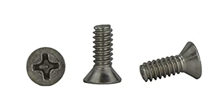 3//8 to 2 Available Full Thread 6-32 x 1 Flat Head Machine Screws Stainless Steel 18-8 Phillips Drive Stainless 6-32 x 1 Machine Thread