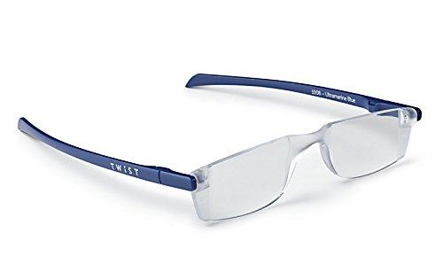 TWIST ONE read Flat Folding Reading Glasses (+2.00, Ultramarine Blue)