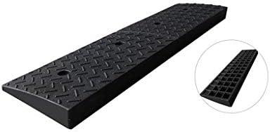 工場の入り口車両スロープ、ブラックラバーの縁石スロープ事務所ウェアラブルサービススロープ屋外階段サービススロープ5-9CM 段差プレート・スロープ (Size : 98*24.5*8CM)