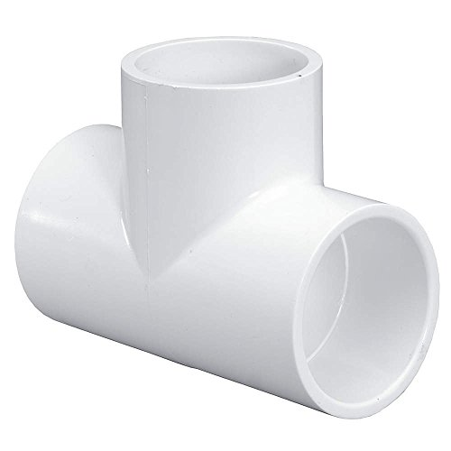 Lasco 401-040 4-Inch White Tee Socket Replacement for Lasco Schedule 40 Solvent Weld PVC Pipe