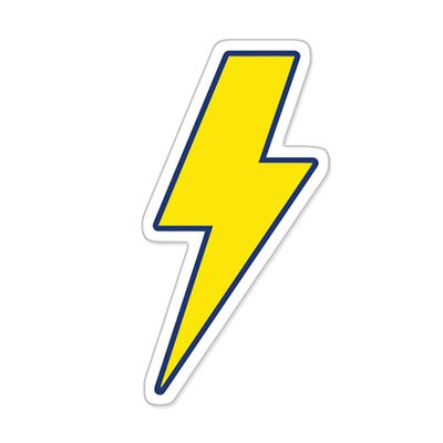 536609e5c Amazon.com: Lightning Bolt Vinyl Sticker - Car Phone Helmet - SELECT SIZE:  Home & Kitchen