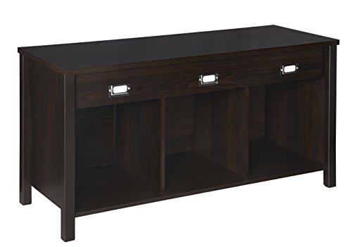 ClosetMaid Cubeicals Premium 3-Cube Bench, Black Walnut