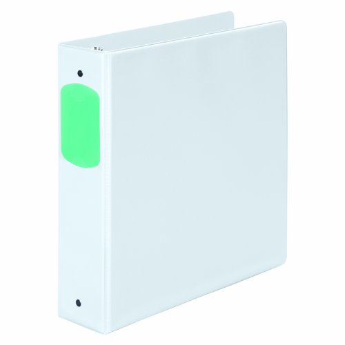 Acco Translucent Poly Ring Binders - Wilson Jones 368 Basic Round Ring Binder with Color Label Sleeves, 2 Inch, White (W368-44NHW)