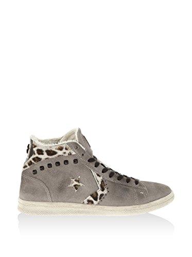 Grigio Pro Donna Art Scarpa Mid Leather Sneaker Suede Casual Ltd 1c643 Converse dYxRPqwP