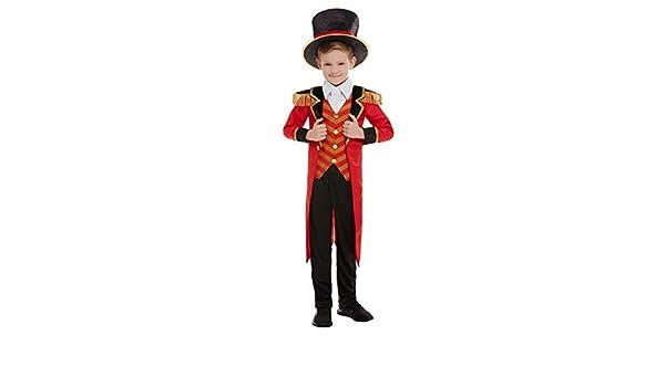 NET TOYS Disfraz Director de Circo niño - Negro-Rojo M, 7 - 9 años ...