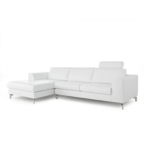 Angela Sectional with Left Side Facing Chaise White