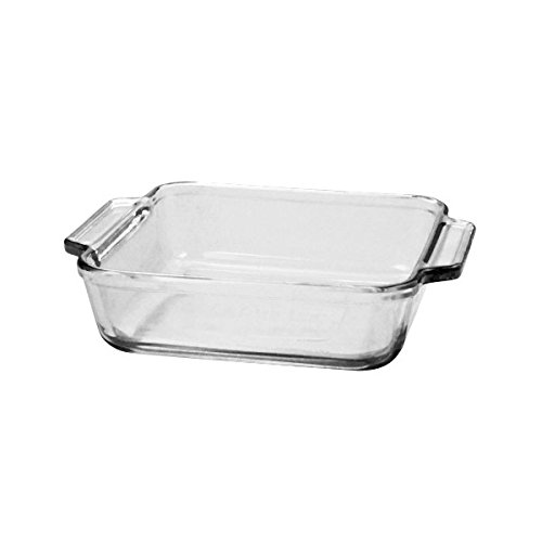Anchor Hocking Basics Square Baking Dish, 2.0 Litre Tempered Glass Dexam 81932OBL11