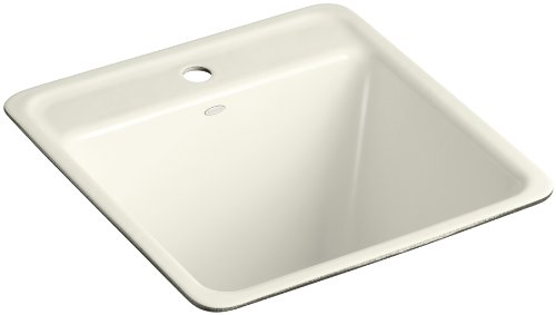 Kohler K-6655-1U-96 Park Falls Undercounter Sink with One-Hole Faucet Drilling, Biscuit (U96 Biscuit)