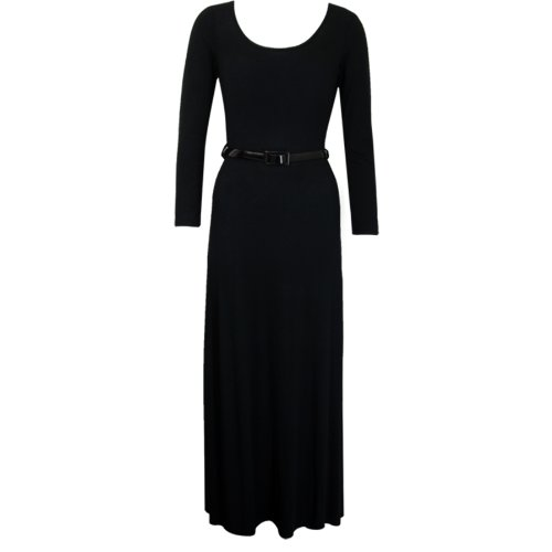Buy belted full skirt dress - 3