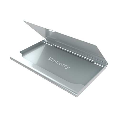 Vomercy Rolodex Steel Business Card Holder Silver Business