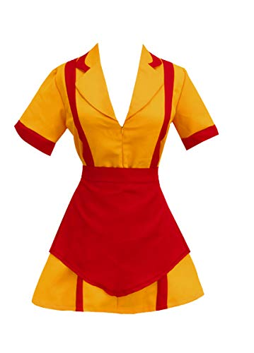 Amayar Women Waitress Uniform Cosplay Fancy Dress Party Costume Orange XXL,XX-Large,Yellow