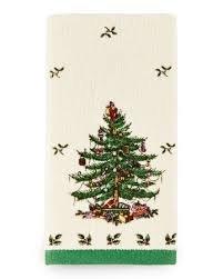 Spode By Avanti Linens Christmas Full Tree Fingertip Towel