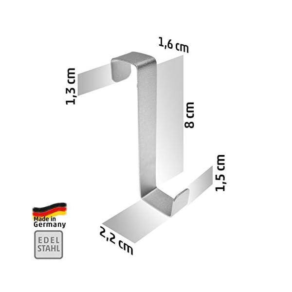 31ivZqVO VL 4smile Türhaken zum Einhängen – 10er Set, Edelstahl – Made in Germany Kleiderhaken für die Tür – weil Ordnung halten so…