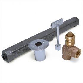 HearthMaster Angle Log Lighter Kit (Bar, Valve, Flange, Key), NG only - Pack of 1
