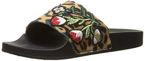 Steve Madden Women's Patches Slide Sandal, Floral Multi, 8 M US
