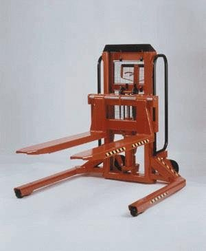 Beacon-Trans-Positioner-Straddle-For-Skid-Pallet-Entry-Drive-Electric-Lift-Electric-Capacity-3000-lbs-Overall-Height-52-12-Lift-Height-35-Fork-WidthLength-14-31-42-Overall-Width-48-12-Overall-Length-6