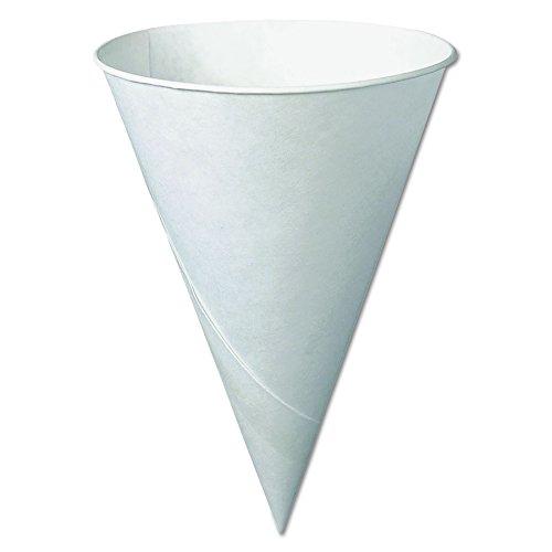 Solo 6R-2050 6 oz White Paper Cone Cups (Case of 5000) ()