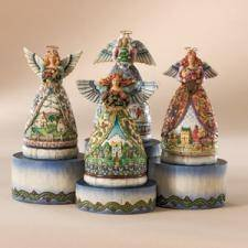 Jim Shore Four Miniature Angels Display 4007202 by Heartwood Creek