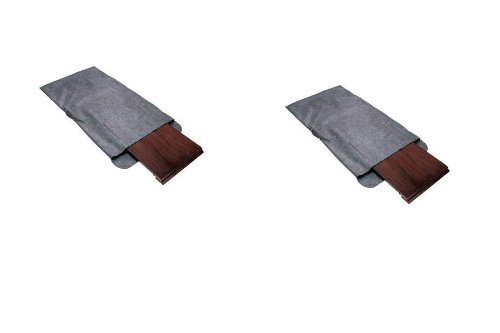 Richards Homewares - Table Leaf Storage Bag with Handle-Grey, Felt (2 pack)