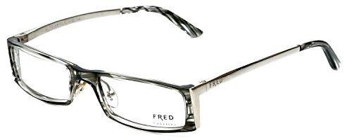 Fred Lunettes Designer Eyeglasses St. Moritz-C1-002 in Grey-Marble 52mm DEMO - Glasses Moritz