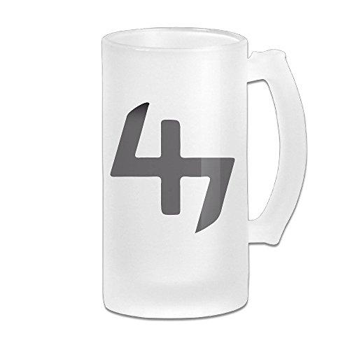 [Joey Badass Progressive Era NYC Logo Grind Beer Glass Mug White] (Bubba J Costumes)