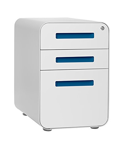 stockpile 3 drawer file cabinet whitelight blue