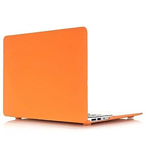Funda MacBook Pro 15 - AQYLQ Carcasa Macbook Pro 15 Retina [Candy Color] Funda rígida para MacBook Pro Retina 15 pulgadas (A1398) - Naranja