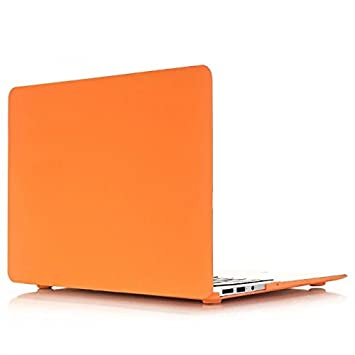 Funda Dura Macbook Air 13 - AQYLQ Carcasa MacBook Air 13 [Candy Color] Ultra Delgado Plástico para MacBook Air 13 Pulgadas A1369/A1466 - Naranja