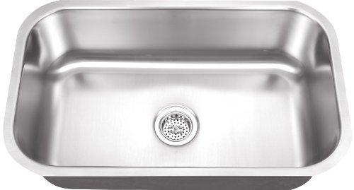 Schon SCSB301818 Undermount 18-Gauge Single Bowl Sink 30-Inch by 18-Inch Kitchen Sink, Stainless Steel by Schon [並行輸入品] B018A30KOY