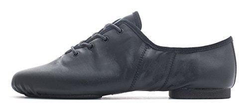 Black PU Lace Up Suede Split Sole Jazz Practice Jive Cerco Modern Dance Shoes By Katz Dancewear All Sizes
