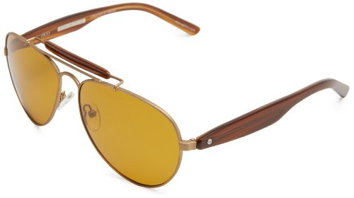 eco Austin Aviator Sunglasses, Antique Gold, 59 mm by EcoPure
