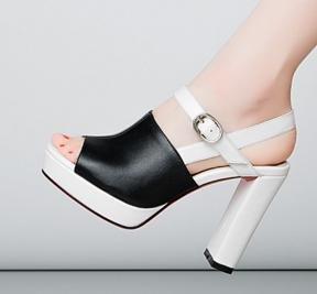 heel Sandal Black High Women's Platform Laruise tw8afn