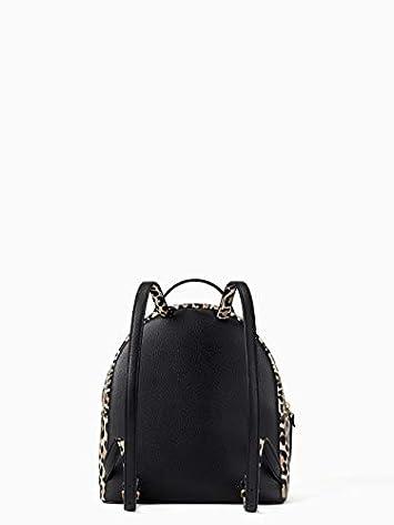 Kate Spade Women s Black Grove Street Leopard Sammi Small Leather Backpack