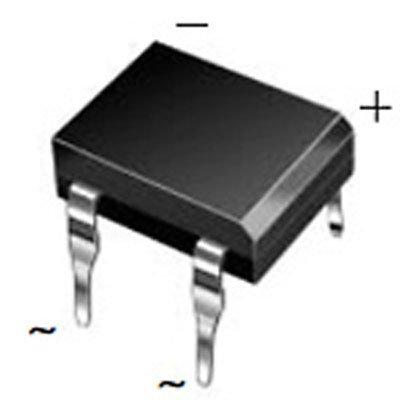 Major Brands DF01M Diode Rectifier Bridge, Single, 100 Volt, 1A, 4-Pin, DFM Tube, 3.4 mm H x 8.51 mm L x 6.5 mm W (Pack of 20)