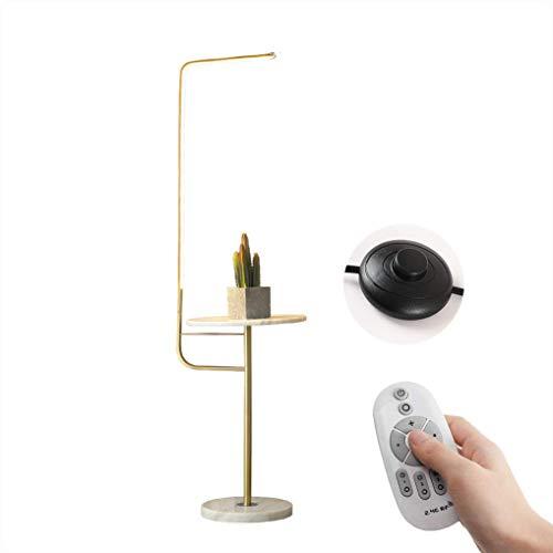 FEE-ZC Lamparas de pie para Lectura Regulable, lampara de pie LED de 25 vatios con Control Remoto, lampara de Lectura Moderna para Comedor, Estudio, Hotel, Mesa de cafe de marmol y Base