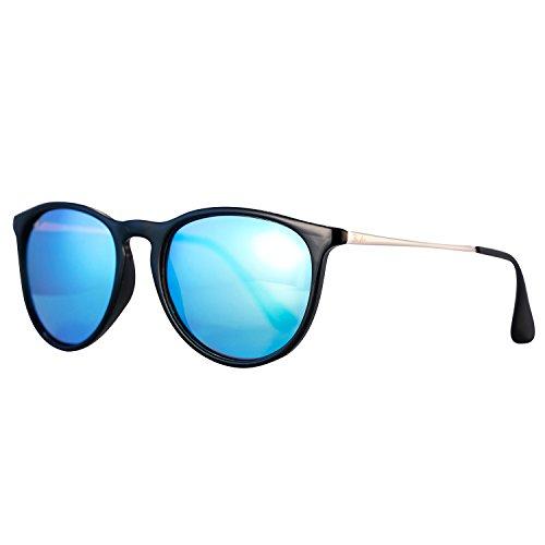 Pro Acme PA4171 Women's Erika Polarized Sunglasses,54mm (Polarized Blue Mirrored Lens) (Blue Lens)