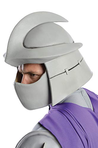 Nickelodeon Ninja Turtles Adult Shredder Overhead Latex Mask, Gray, One Size