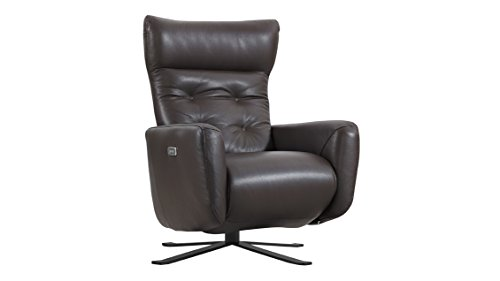 Federica Brown Leather Battery Power Recliner ()