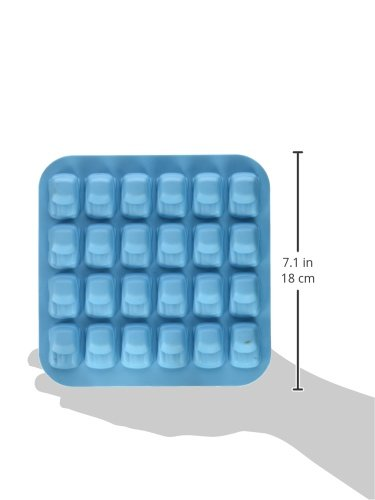 Fairly Odd Novelties Mini Car Shape Flexible 24 Ice Tray Mold Blue Rubber Novelty Gag Gift