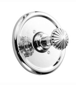 - Ornate Pressure Balance Thermostatic Faucet Shower Faucet Trim Only with Knob Handle Finish: Platinum Nickel