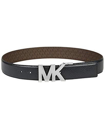 Michael Kors Reversible Signature Plaque Belt (Black/Brown, XS) ()