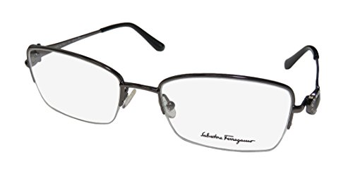 Salvatore Ferragamo SF 2132R 015 Shiny Gunmetal Metal - Outlet Eyeglass Frames Designer