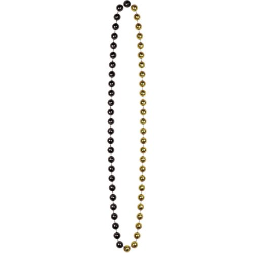 Jumbo Party Beads (black & gold) Party Accessory  (1 count) (1/Card)]()